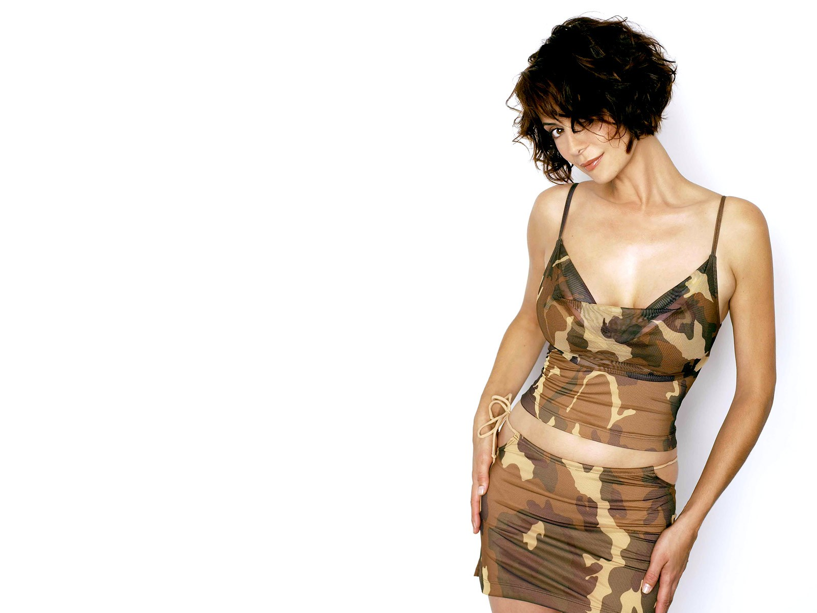 Catherine Bell In Army Dress