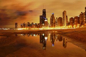 Chicago At Night Wide