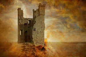 Collapsed Fortress Of Fantasy Wide
