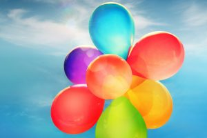 Colorful Balloons Wide