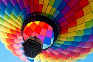 Colorful Hot Air Blloon Wide