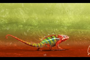 Cool Abstract Chameleon Wide
