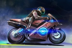 Motorcycles Art Background