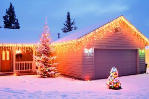 Cute Christmastime House Decoration