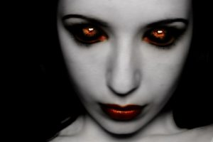 Dark Art – Girl With Red Eyes And Mouth