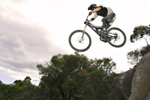 Extreme Jump With A Bicycle