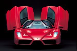 Ferrari Enzo Front View With Opened Doors