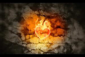 Flame Heart Wide