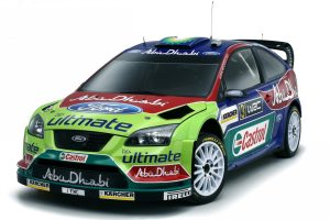 Ford Focus Rs Wrc On Wite Background Wide