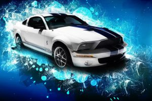 Ford Mustang Gt Abstract Blue