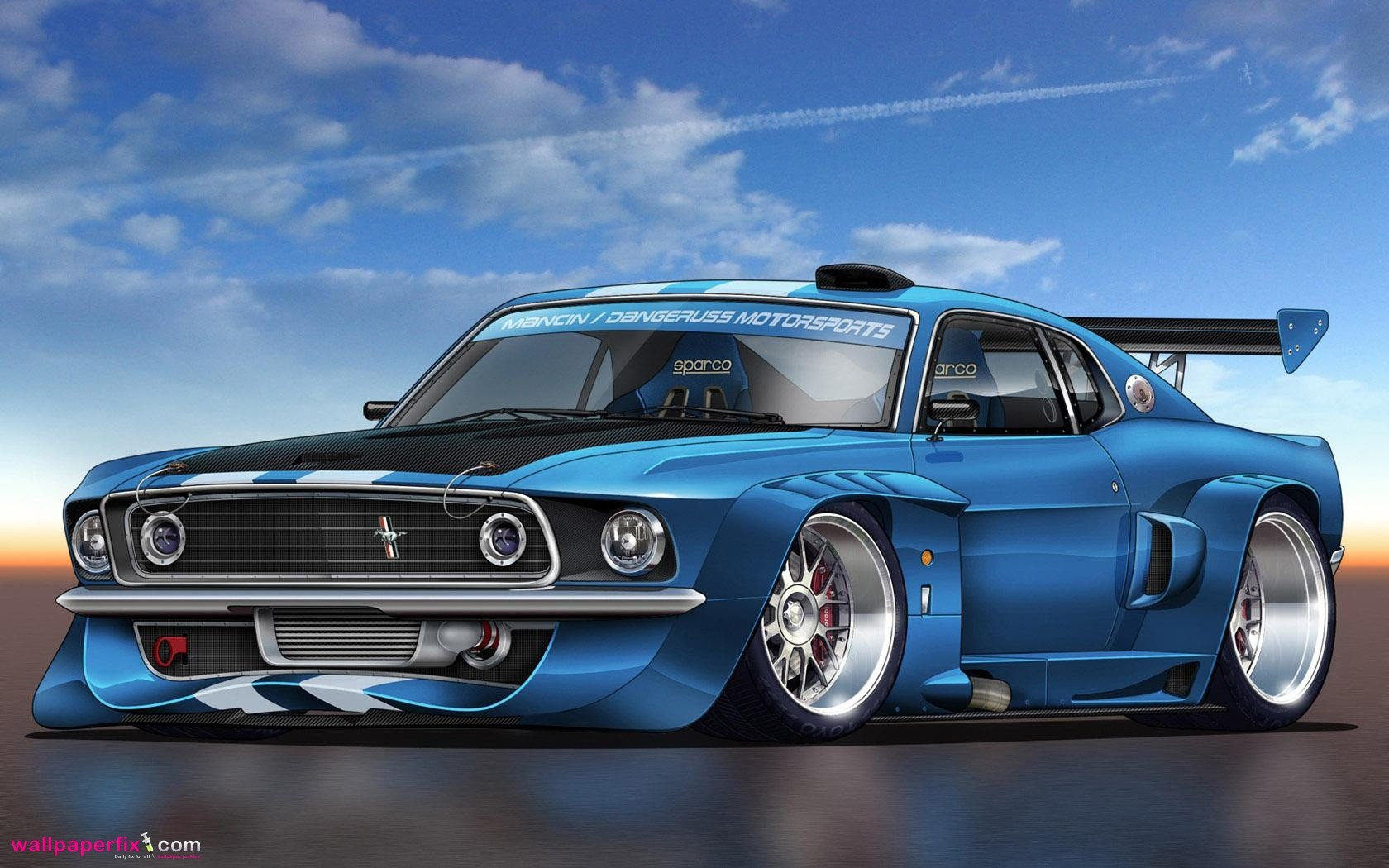 Ford Mustang Racing Wide