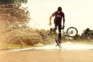 Fountain BMX Tricks