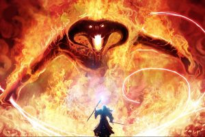 Gandalf Vs Balrog Art-Other