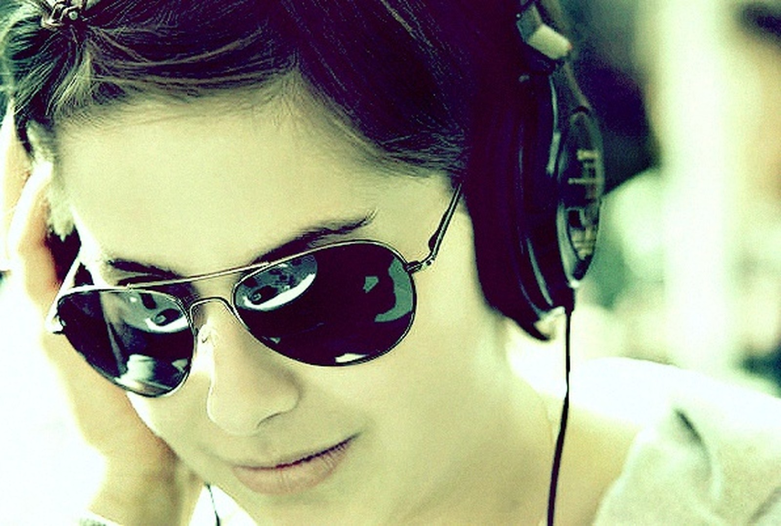 Girl Mixing Music Other