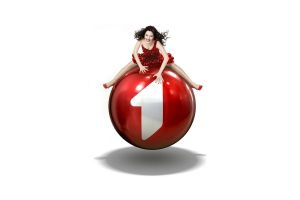 Girl On A Red Ball Commercial Wide
