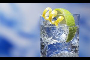 Glass With Lemon Ice Wide