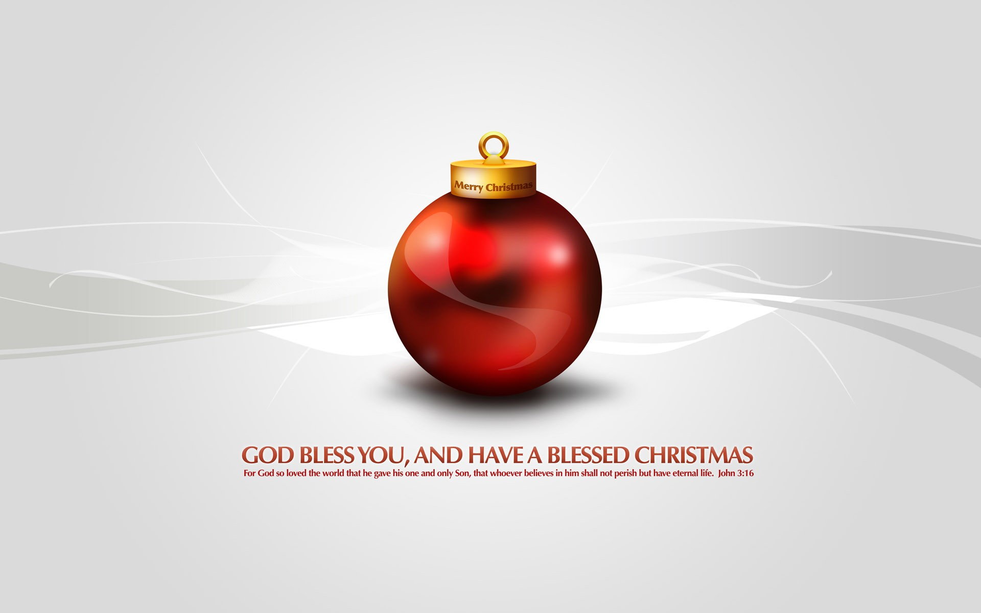 God Bless You And Merry Xmas Wide