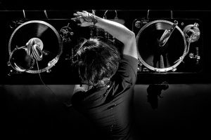 Great Black And White DJ Photo