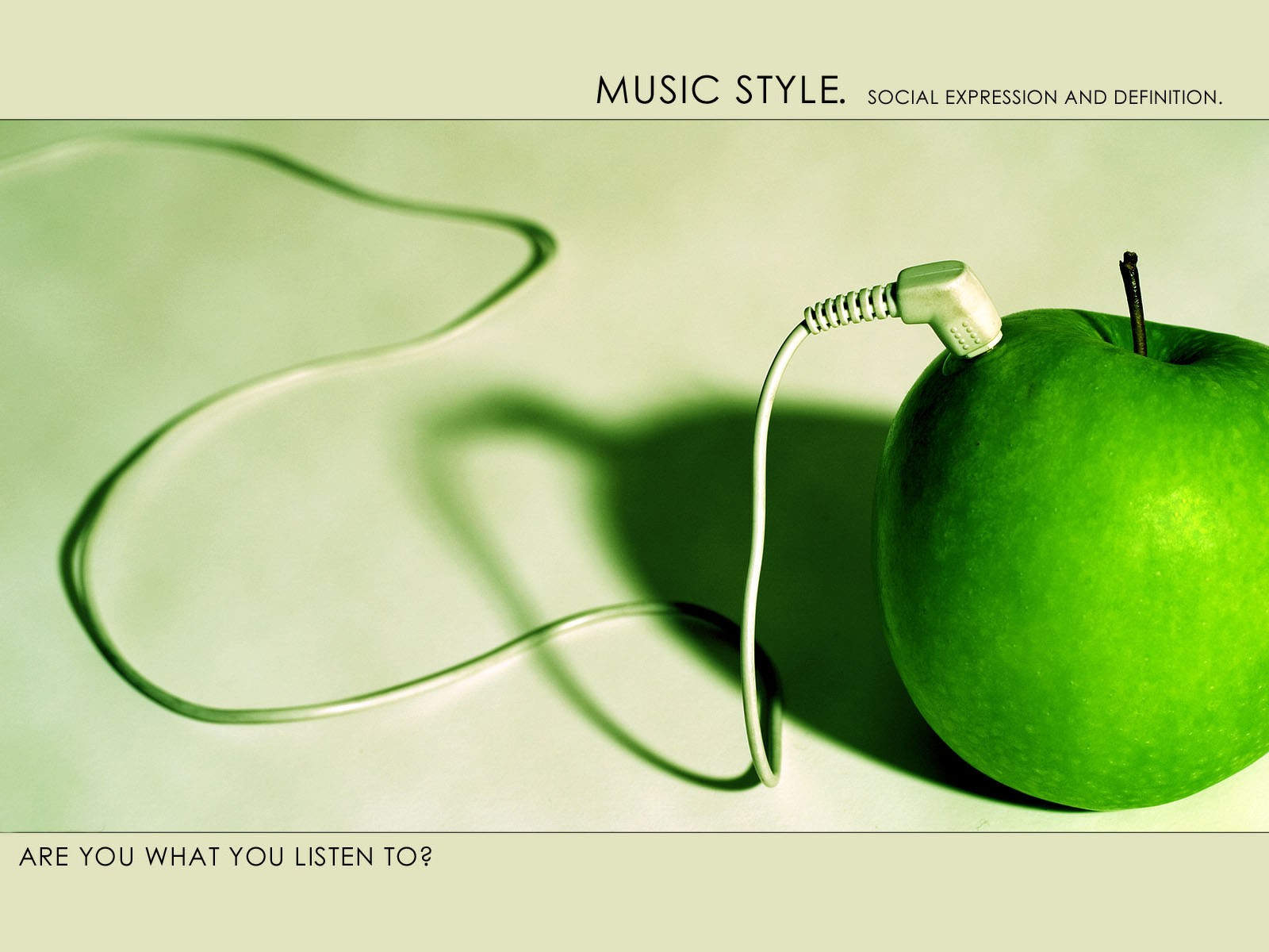 Green Apple Is Live Music Energy Great Dj Background