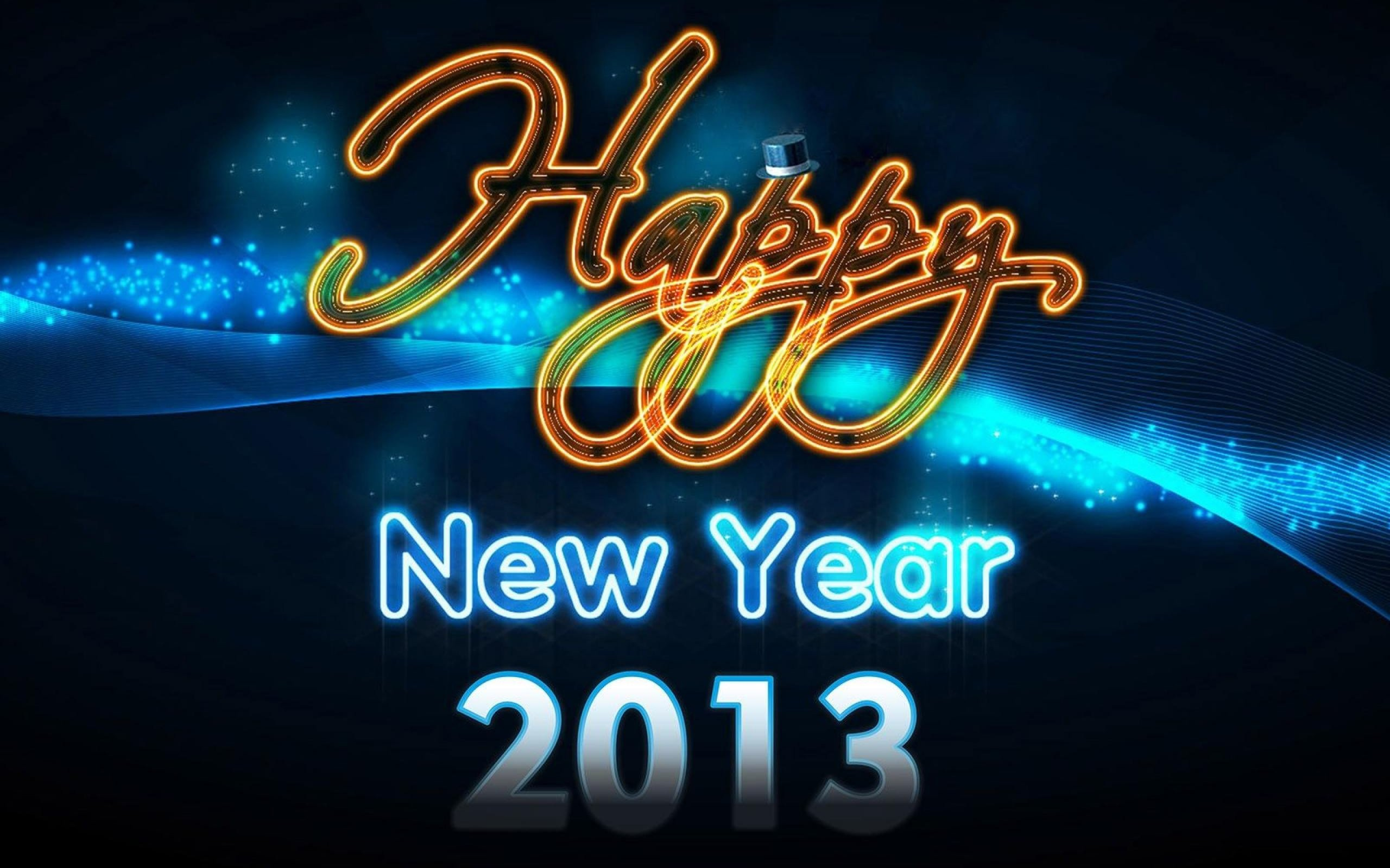 Happy New Year 2013 Style Wide