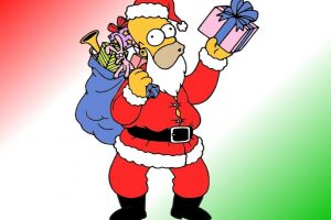 Homer Simpson Is Santa