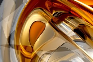 Hot Gold Abstract Background