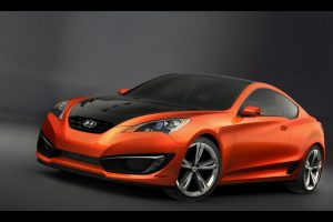 Hyundai Genesis Coupe Concept Front Angle Wide
