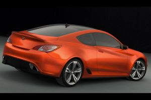 Hyundai Genesis Coupe Concept Rear Angle Wide