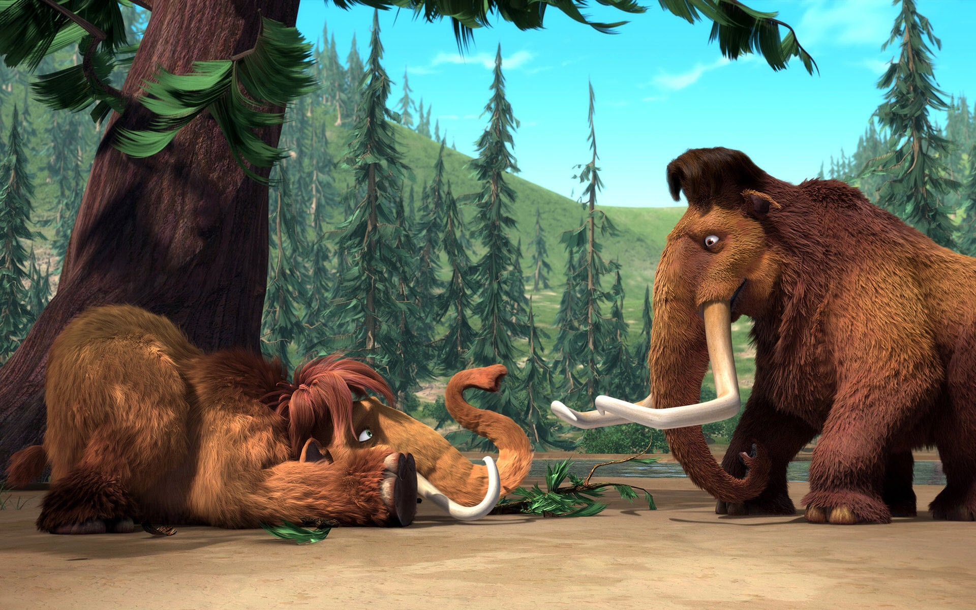 Ice Age Manny Ellie Wide