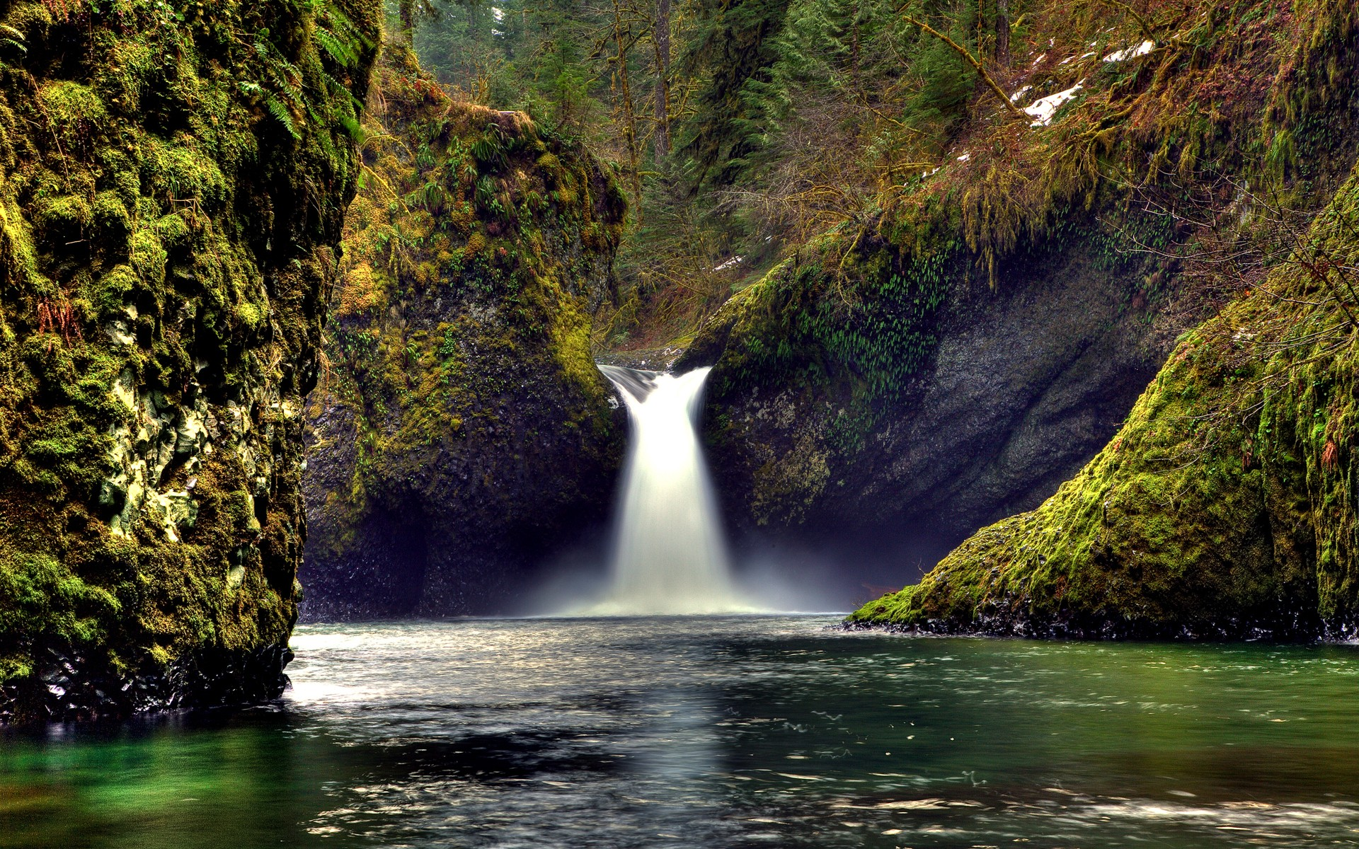 Indescribably Beautiful Waterfall Wide