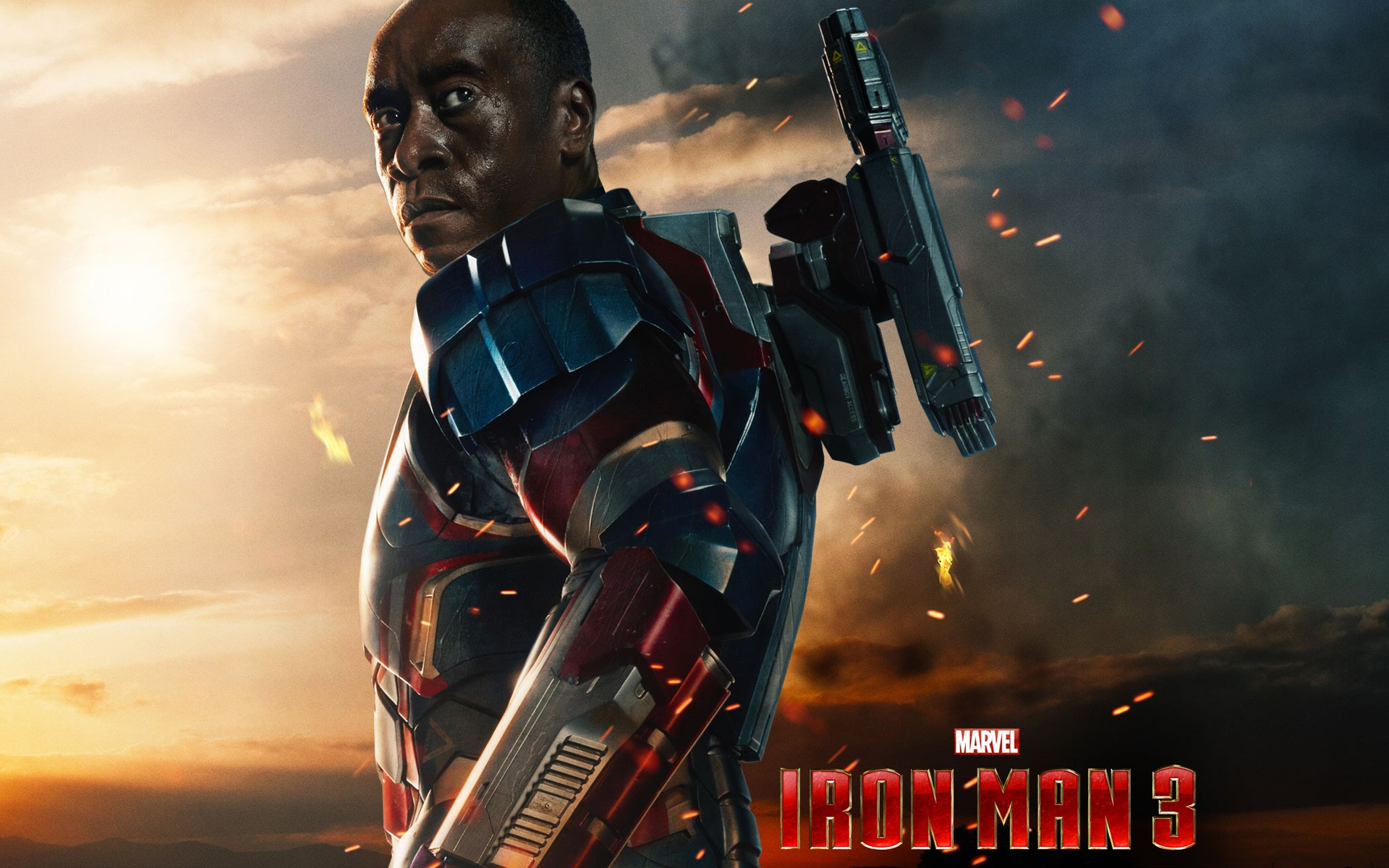 Iron Man 3 James Rhodes Wide