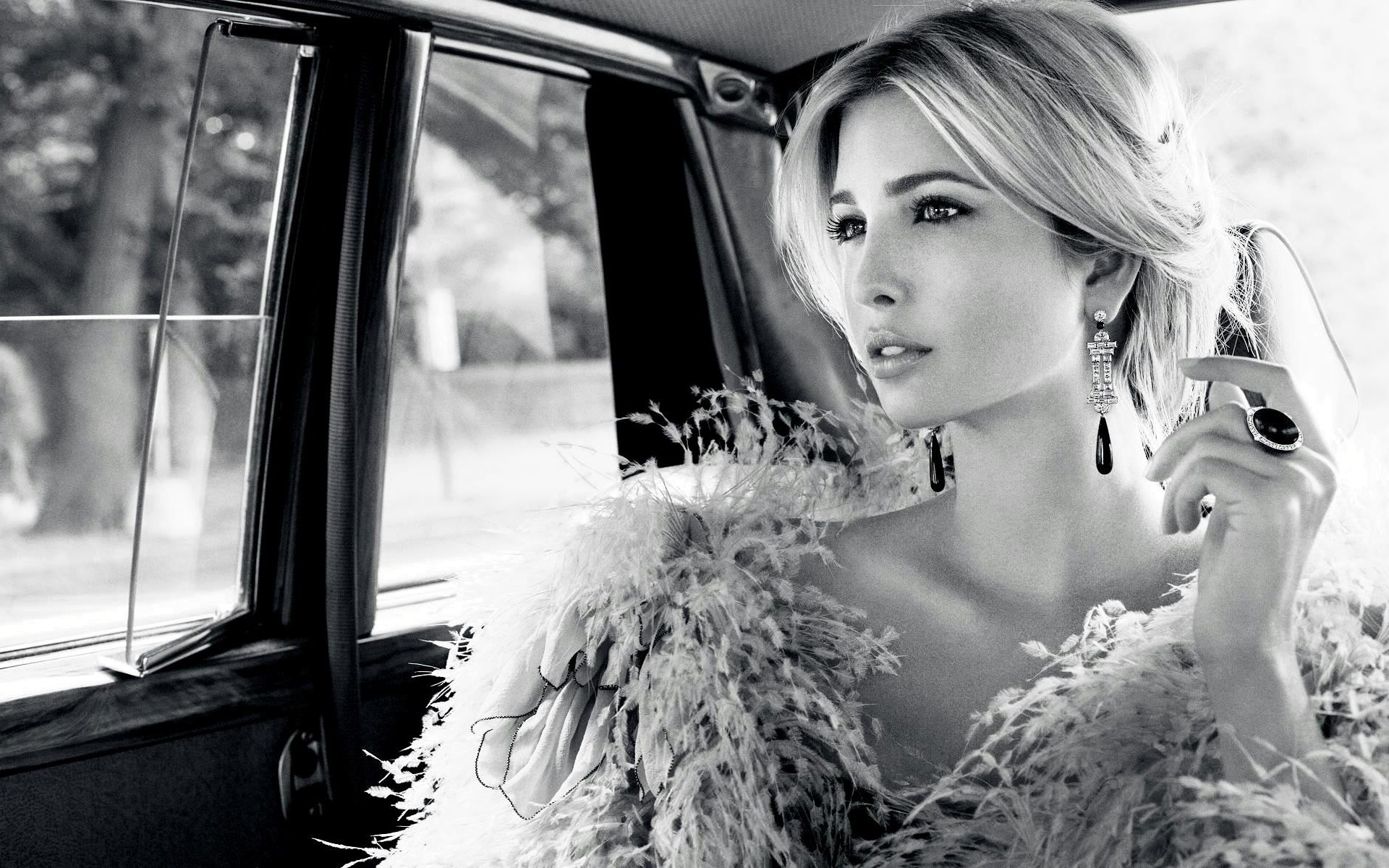 Ivanka Trump In The Car Wide