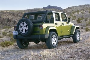 Jeep Wrangler Unlimited Rear Angle Wide
