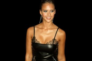 Jessica Alba In Black Dress