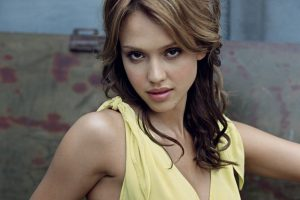 Jessica Alba Yellow Dress Look Into You