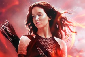 Katniss In The Hunger Games Catching Fire Wide