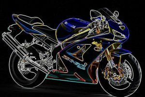 Kawasaki Motorcycle Inverted Colors