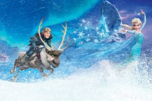Kristoff Elsa In Frozen Wide
