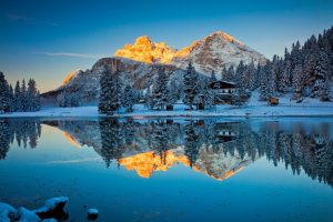 Lake Misurina Reflections Wide