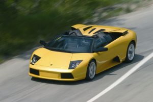 Lamborghini Murcielago Roadster On The Road