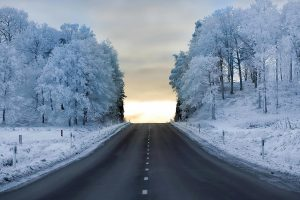 Landscape Of A Snowy Road-Other