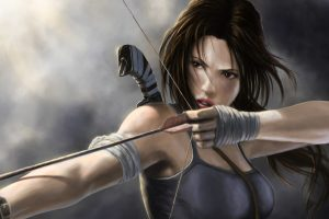 Lara Croft Art Girl