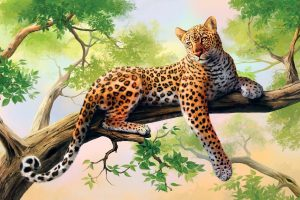 Leopard Art Wide