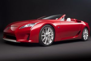 Lexus Lfa Roadster Concept Front Angle Wide