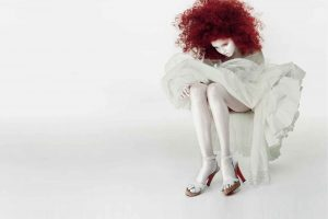 Lily Cole Waxed With Red Hair
