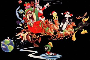 Lonely Toons Christmas Postcard