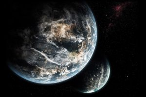 Look From Universum Two Planets