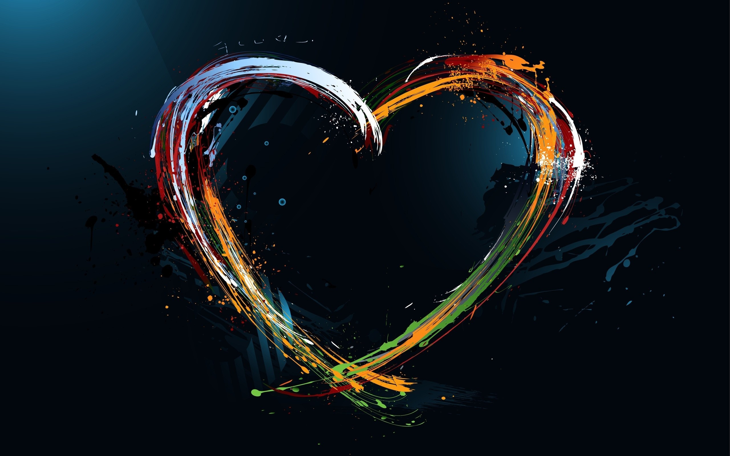 Love Abstract Design Wide