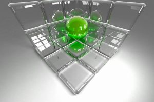 Marbles In 3D Cube