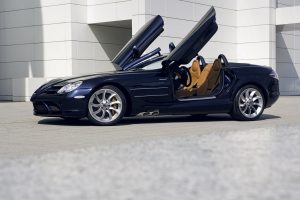 Mercedes Mclaren Slk Roadster Doors Opened Wide